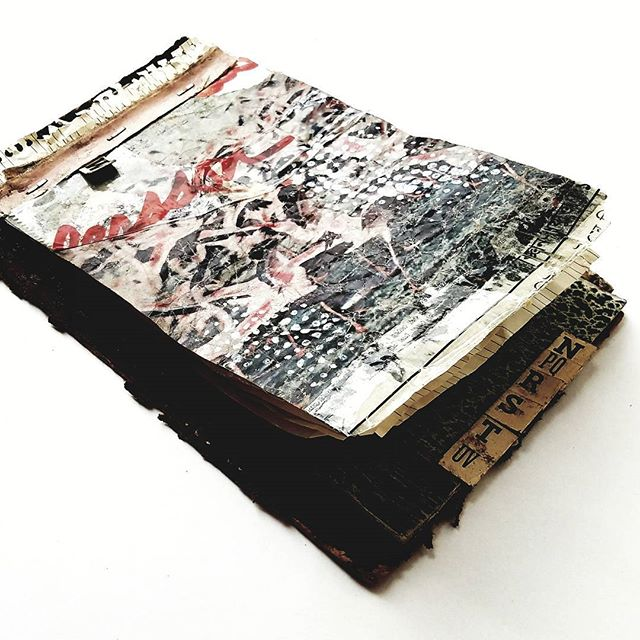 _mixed media, book fragments_10 x 6