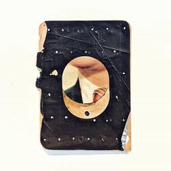 self portrait_mixed media, carbon paper,