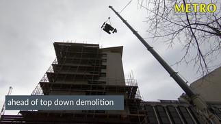Holborn Viadcut Crane Lift