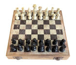 Chess board with chess pieces