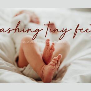 Washing Tiny Feet
