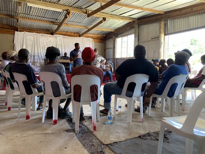 A community survey underway to gather behavioral data in Durban.