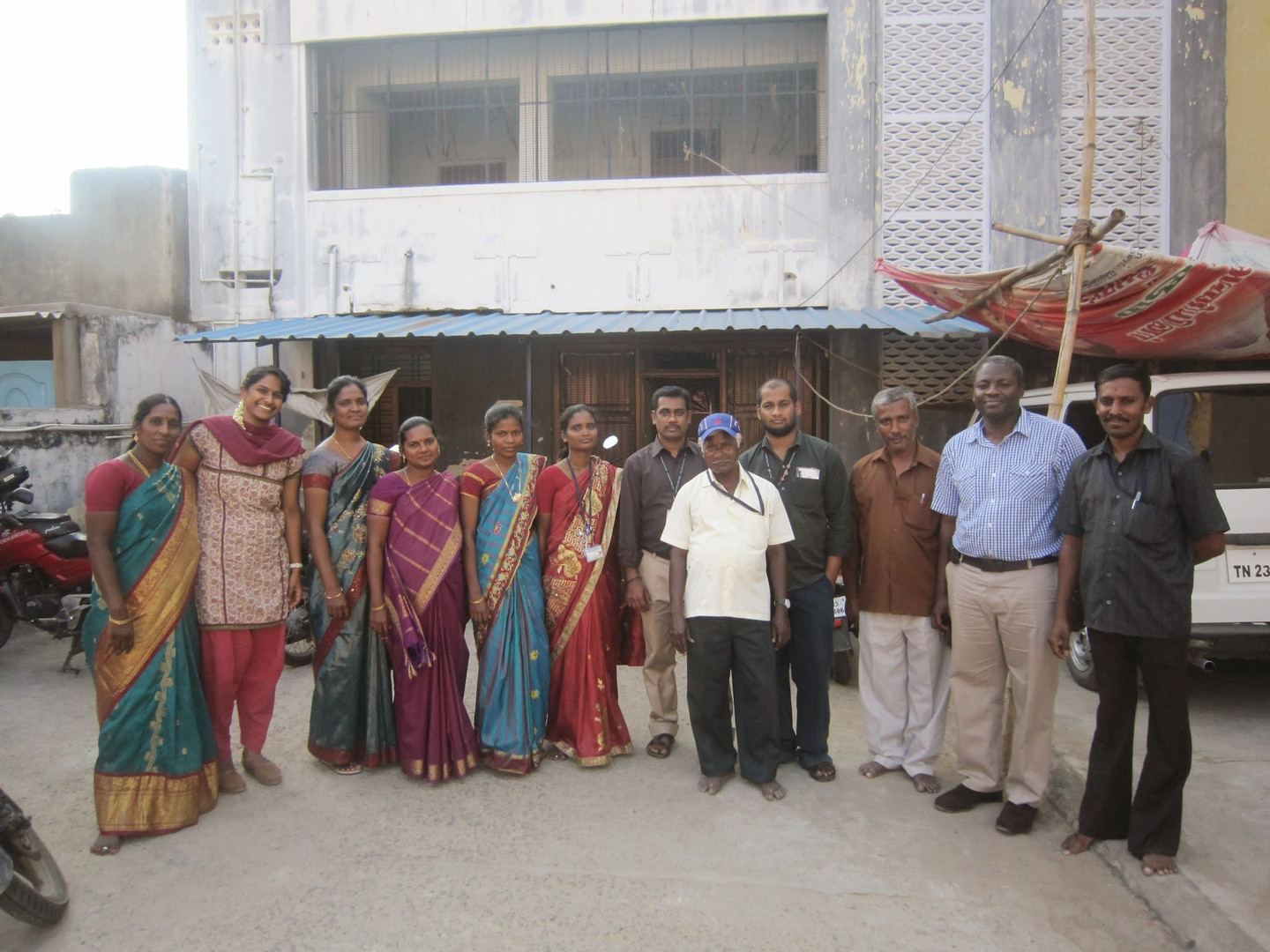 The staff in Vellore gathers for a group photo.