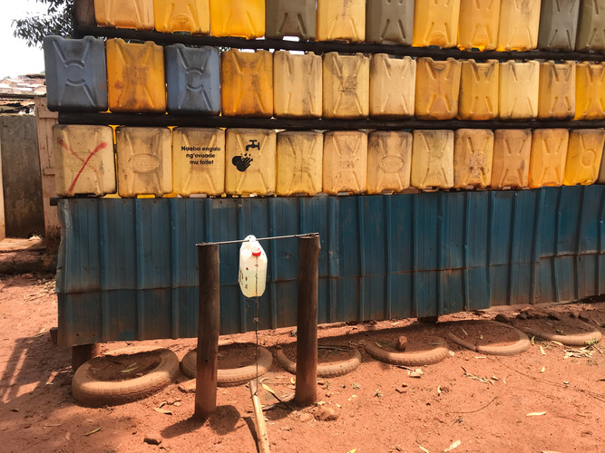 A public water supply source in Kampala.