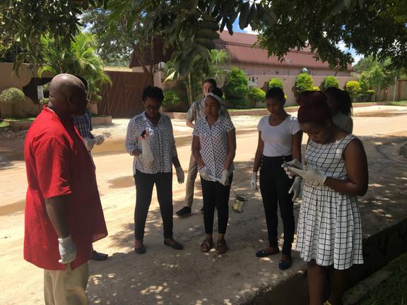 Field training in Lusaka.