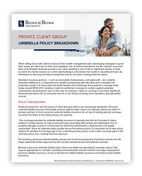 Private Client Group Umbrella Policy Bre