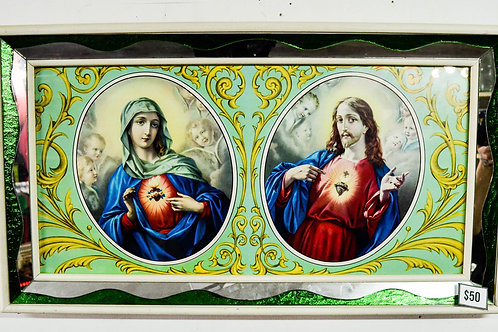 "JESUS & MARY - 31.5"" X 18"""