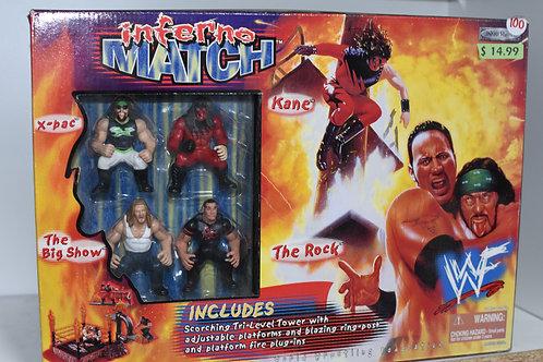 INFERNO MATCH WWF TOY SET W RING