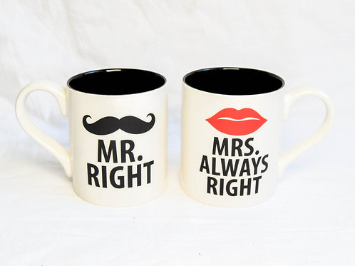 MR RIGHT & MRS ALWAYS RIGHT SET