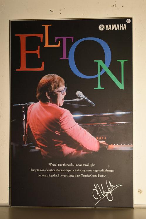 "ELTON JOHN - 34"" x 22.5"" WOOD"