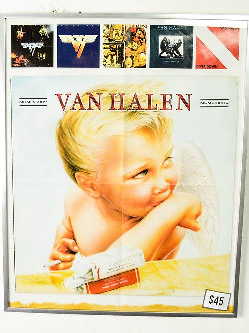 """VAN HALEN - 16.5"""" X 20.5"""" (FRAMED)"""