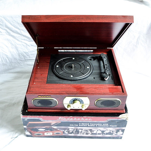 USB TURNTABLE w/ BLUETOOTH, TAPE, RADIO, AUX