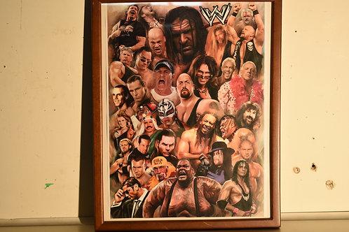 "WWE COLLAGE - 19"" x 15"