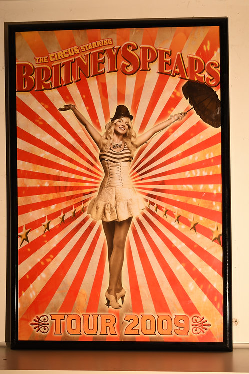 "BRITNEY SPEARS CIRCUS TOUR 2009 - 37""x 24.5"" FRAMED"
