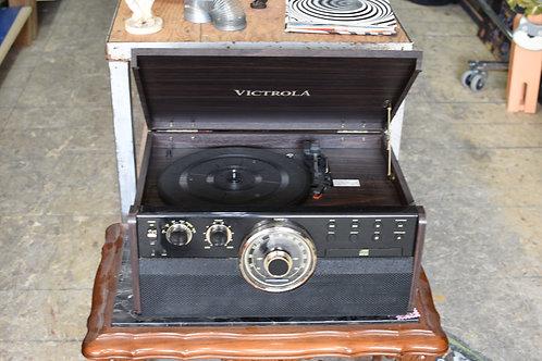VICTROLA - RECORD PLAYER/CD/TAPE/RADIO