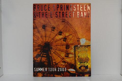 BRUCE SPRINGSTEEN 2003 TOUR BOOK