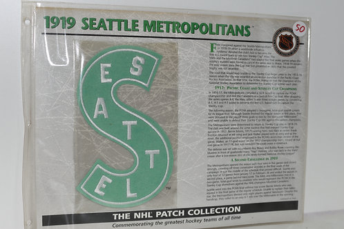 "1919 SEATTLE METROPOLITANS PATCH ""NHL PATCH COLLECTION"""
