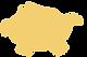 Tireline jaune en forme de cochon