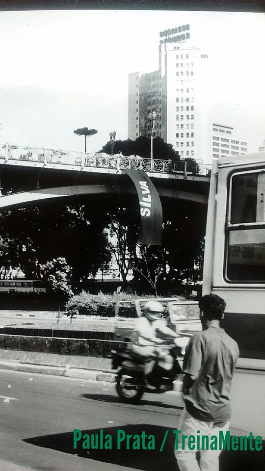 Homenagem a Ayrton Senna, Viaduto do Chá, SP