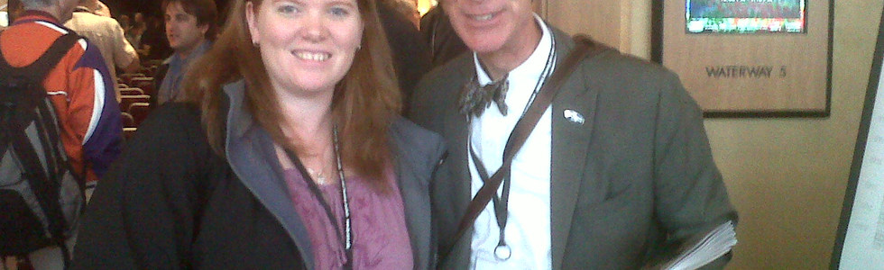 Dr. Kim Tait with Bill Nye