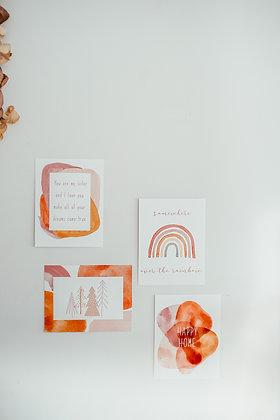 Conjunto de 3 Postales de Navidad