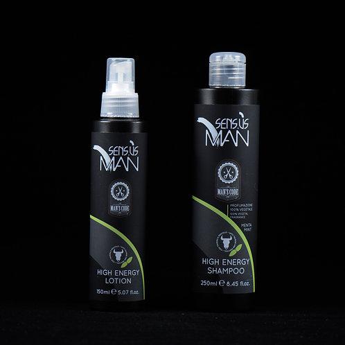 Shampoing + Lotion High Energy - SENS.US MAN  - 250 ml