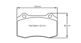 CR4-D50 Street Performance Brake Pads