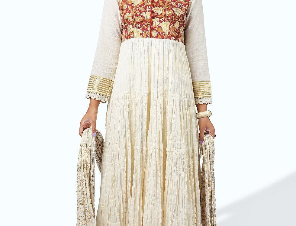 Long Printed Dress_005