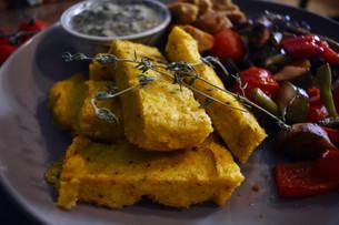 Herby Roast Polenta Slices