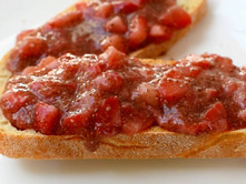 Strawberry Chia Compote On Sourdough Toast