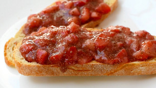 Strawberry Chia Compote On Sourdough Toast