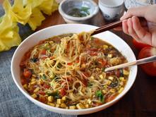Tofu & Tomato Chinese Noodle Soup