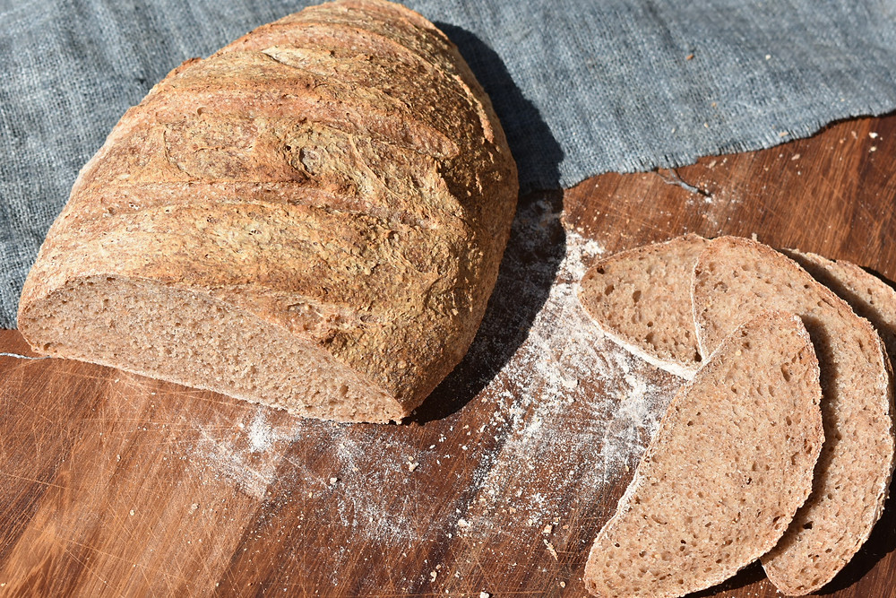 Sourdough Bread made with whole meal wheat flour