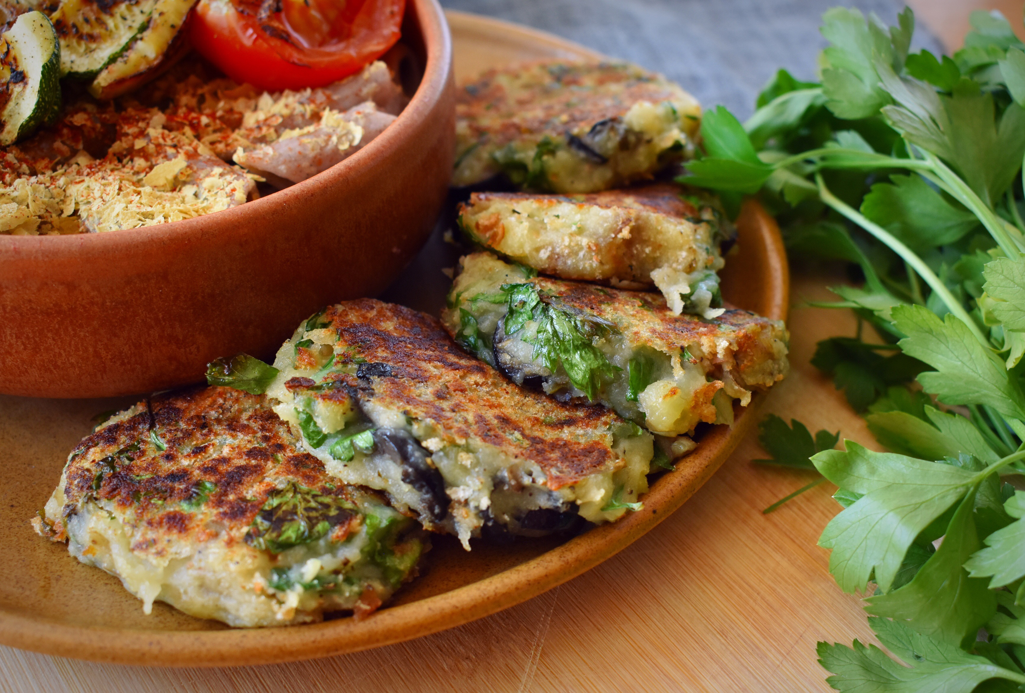 Potato Cakes With Olives & Parsley