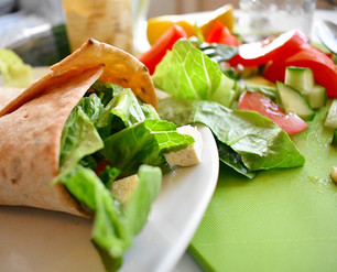 "Tofu ""Feta"" Salad Wrap Recipe"