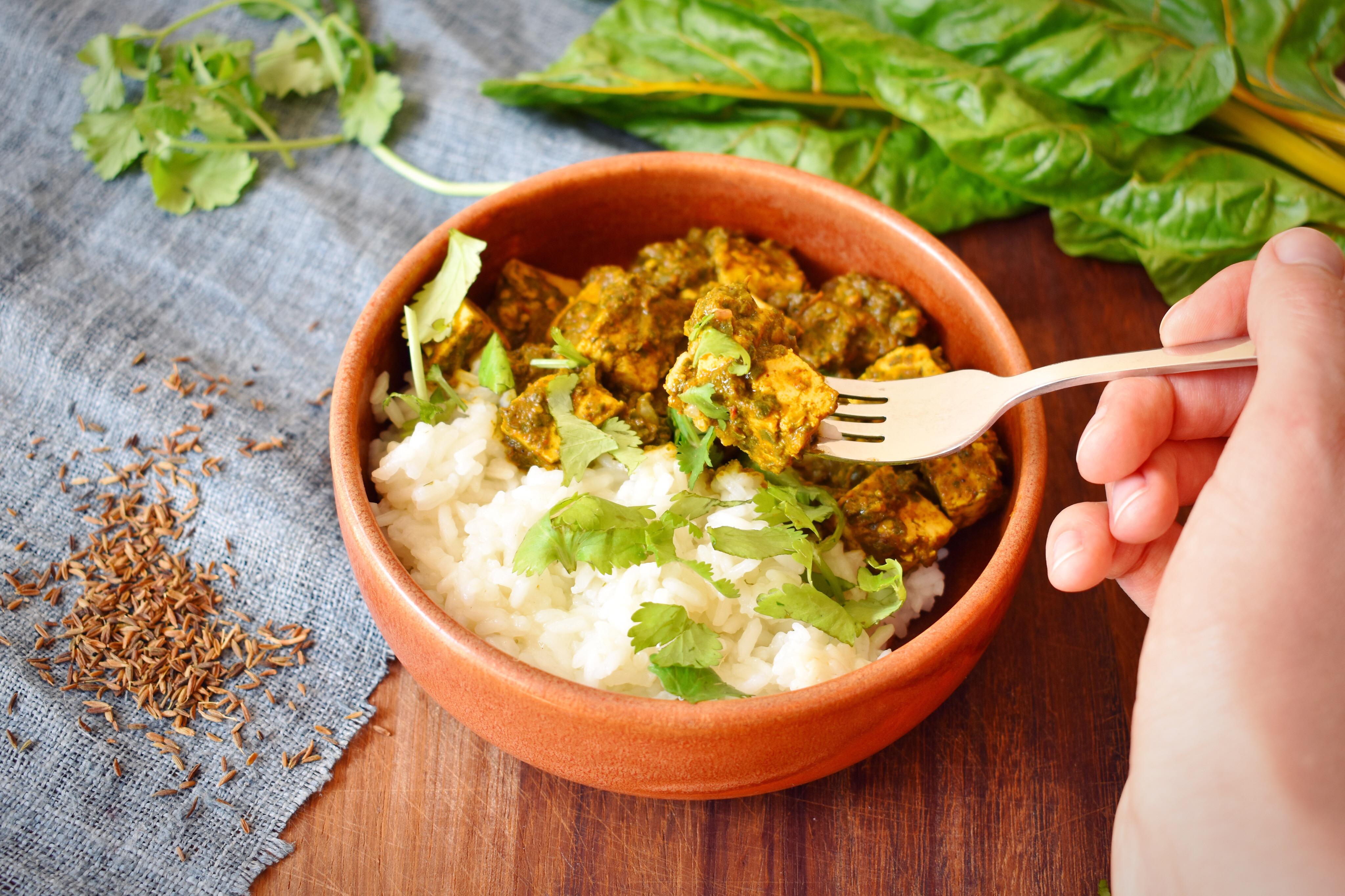 Indian Palak Tofu Curry