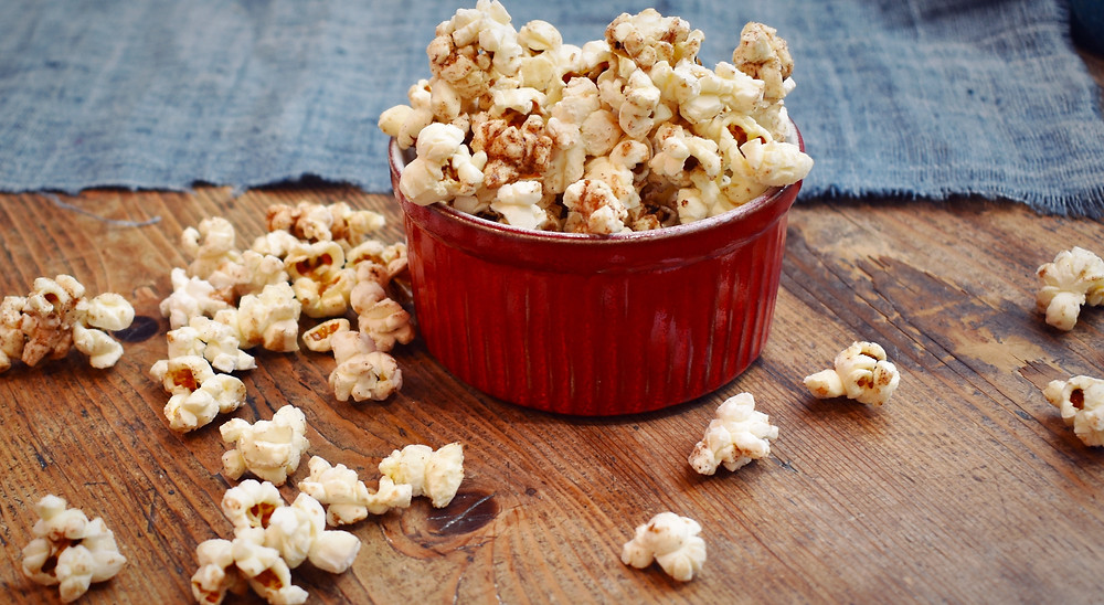 Cinnamon Popcorn is a great lowFODMAP Treat