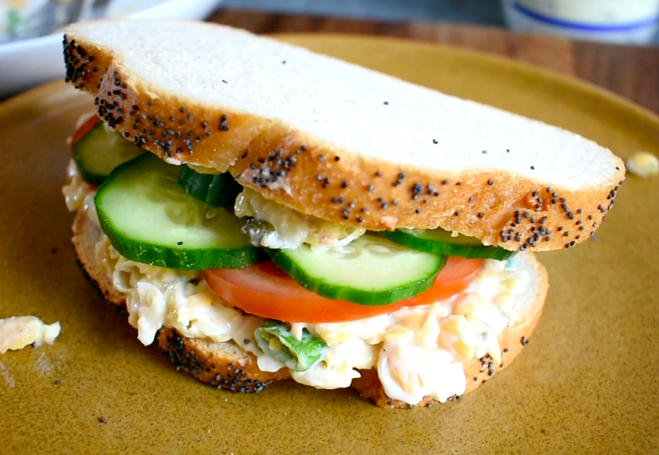 Chickpea & Mayo Sandwich Filling