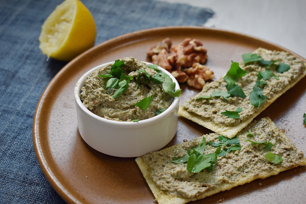 Walnut & lentil pate, recipe form Jo's book. low FODMAP & vegan