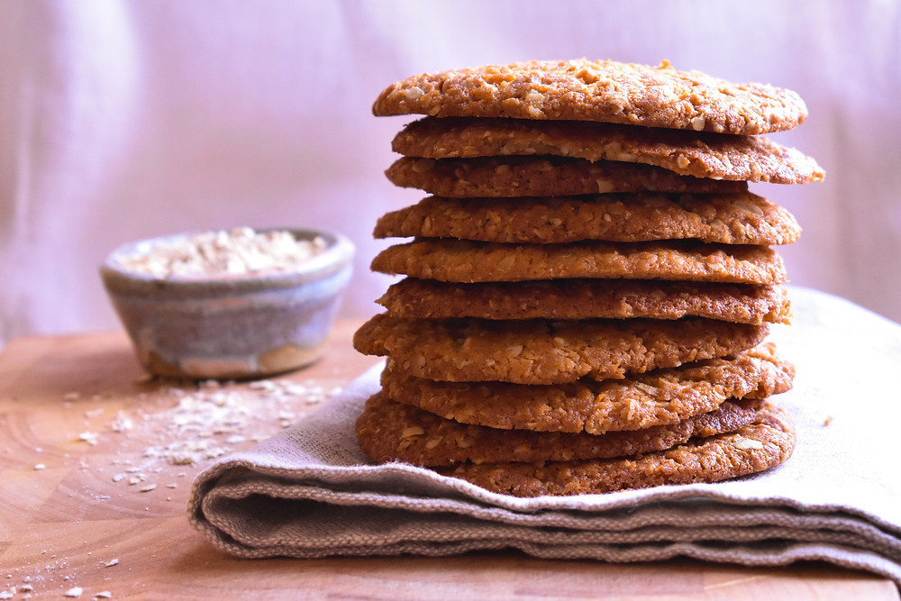 Quick, low FODMAP, vegan oat cookies
