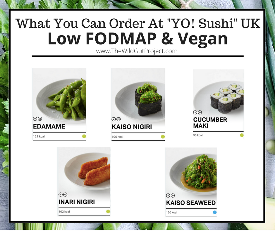 Vegan Low FODMAP Options at YO! Sushi