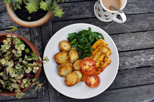 """The Healthy """"Fry Up"""" With Tofu Rashes"""