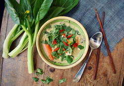 10 minute Coconut Satay Noodle Soup