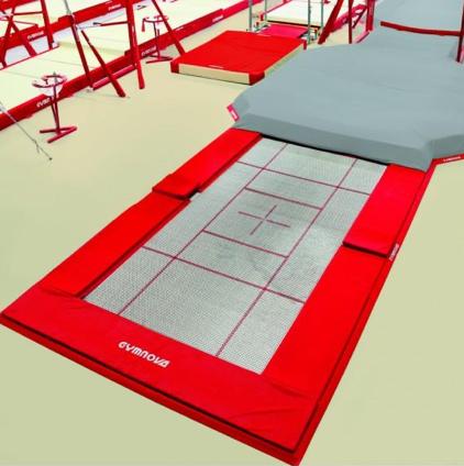 GYMNOVA - Petit trampoline encastré seul - 366 x 183cm
