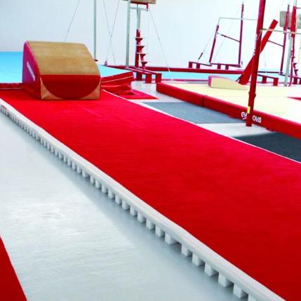 GYMNOVA - Piste d'acrobatie avec piste enroulable 14m x 2m