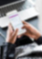 Personen-Holding Smartphone