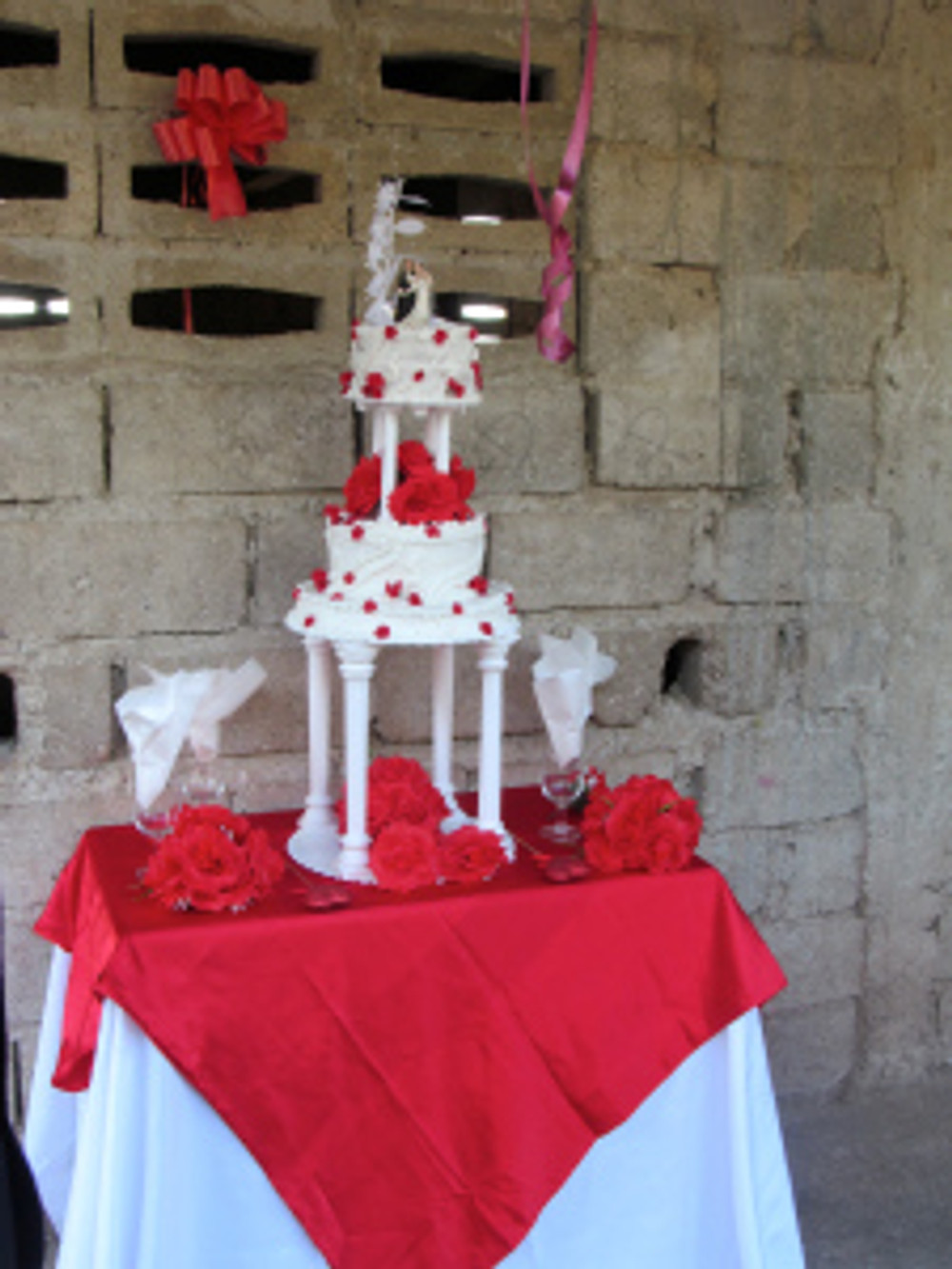 One of the tier cakes prepared by the students of Grace TRADE School!