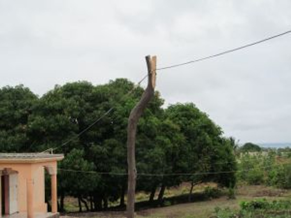 """""""Electric pole"""" leading to the GRACE Orphanage!"""