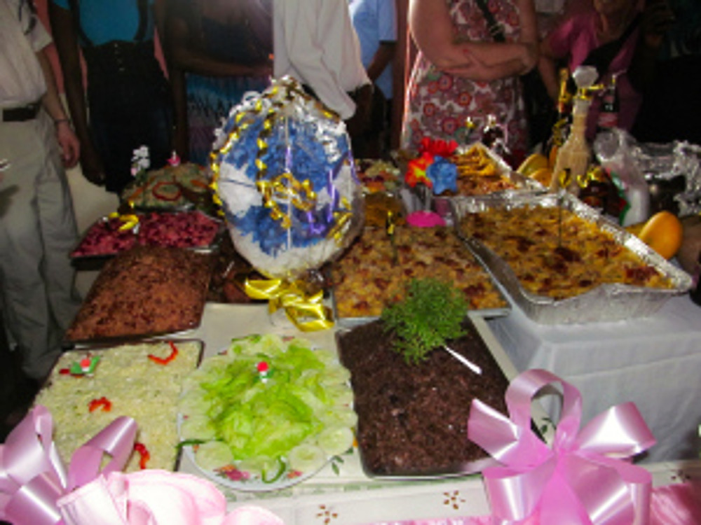 An array of food was served at an open house in the community!