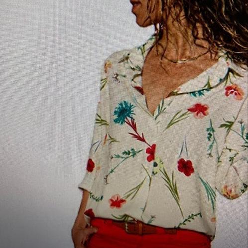 Floral Blouse Button Down